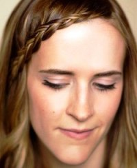 Челка – французская коса